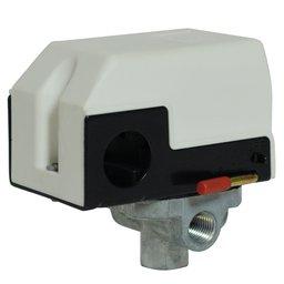 Pressostato Branco 80/120PSI com Válvula, Chave e Manifold 4 Vias para Compressor Odontológico