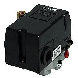 Pressostato 125/175PSI com Válvula, Chave e Manifold 4 Vias para Compressor de Alta Pressão