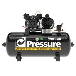 Compressor de Ar 10 Pés 140PSI 100 Litros Monofásico 127/220V