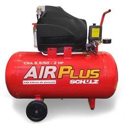 Motocompressor de Ar 8,5 Pés 50 Litros 2HP  Air Plus