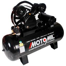 Compressor de Ar 20 Pés 200L 5HP 140 Libras Trifásico 220/380V