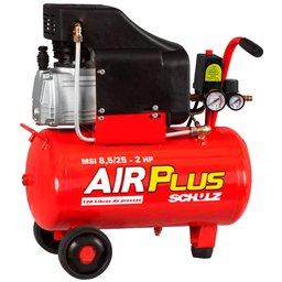 Motocompressor de Ar 8,5 Pés 25 Litros 2HP  Air Plus