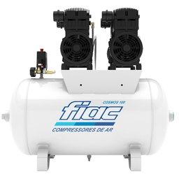Compressor Odontológico 20 Pés 2 x 2CV 100 Litros  Isento de Óleo