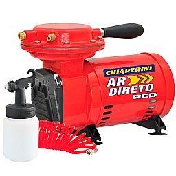 Motocompressor de Ar Direto Red 2,3 Pés 40PSI Mono Bivolt com Pistola e Mangueira