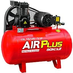 Compressor Air Plus 3HP 15 Pés 100L 140PSI 220/380V Trifásico