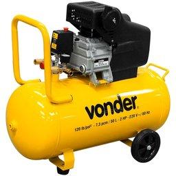 Motocompressor de Ar 7,3 Pés 2 CV 50 Litros 110V