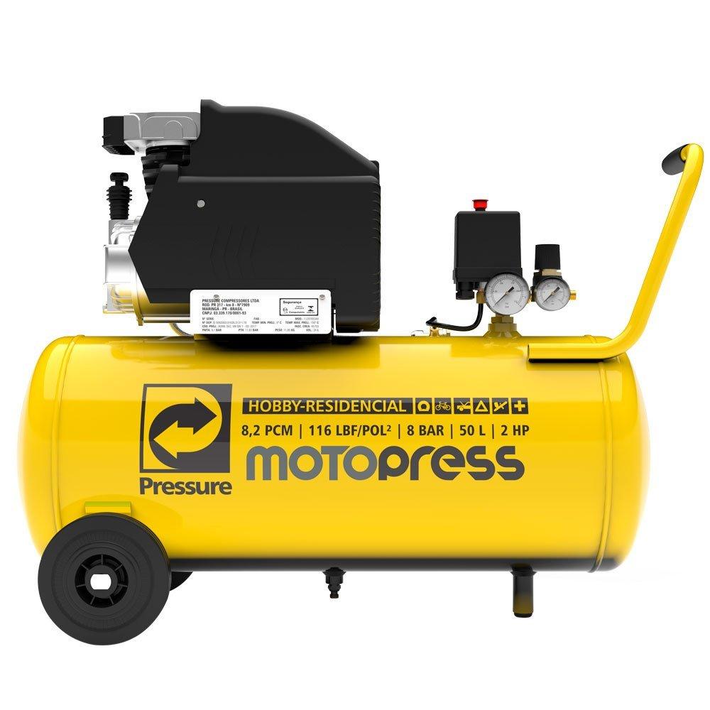 Motocompressor de Ar 8,2 Pés 2HP 50 Litros 116 PSI