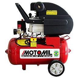 Motocompressor de Ar 7,6 Pés3/min 2,0HP 24 Litros 220V