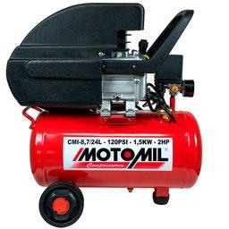 Motocompressor de Ar 8,7 Pés3/min 2,0HP 24 Litros 110/220V