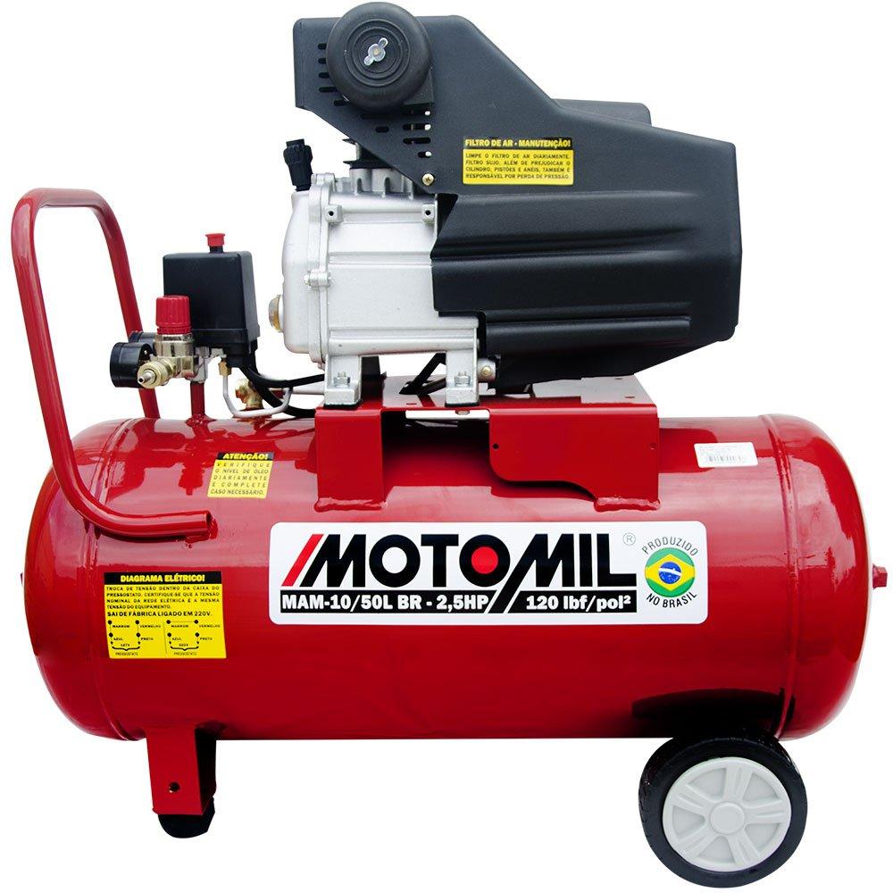 Motocompressor de Ar 8,8 Pés3/min 2,5HP 50 Litros 110/220V