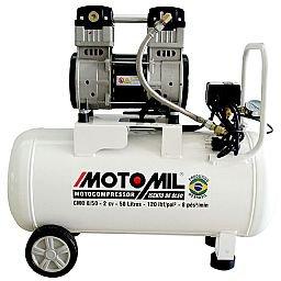 Motocompressor de Ar Isento de Óleo 8 Pés3/min 2,0HP 50 Litros 220V