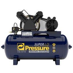 Compressor de Ar 10 Pés 140 PSI 100 Litros Monofásico 110/220V