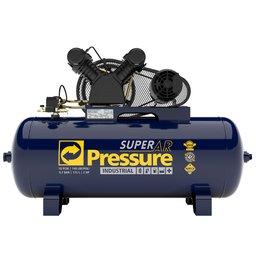 Compressor de Ar 10 Pés 140 PSI 175 Litros Monofásico 110/220V
