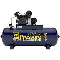 Compressor de Ar 20 Pés 175 PSI 250 Litros Monofásico 220/440V