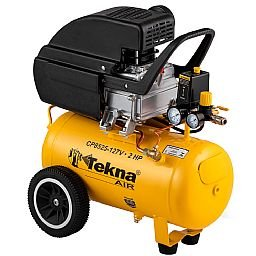 Motocompressor de Ar 2 HP 24 L 8,5 Pés 8 bar 110V
