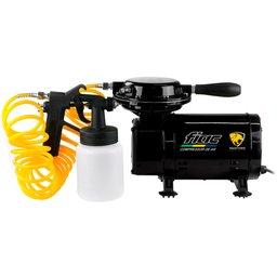 Compressor de Ar Direto 2,3 Pés 40 PSI 1/4HP Bivolt com Kit de Pintura