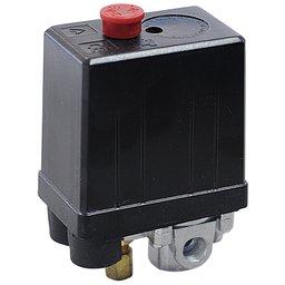 Pressostato 80/120PSI com Chave e Manifold 4 Vias para Motocompressor