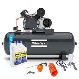 Kit Compressor ATLASCOPCO-AT5/20I-200L-175L 20 Pés + 2 Óleos Lubrificante 1 Litro + Kit de Pintura com 5 Peças