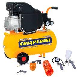 Kit Motocompressor CHIAPERINI-MC7.6/21L 7,6 Pés 220V Mono + Kit de Pintura com 5 Peças