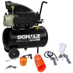 Kit Motocompressor SCHULZ-CSI-8525-AIR 8,5 Pés  Mono + Kit de Pintura com 5 Peças
