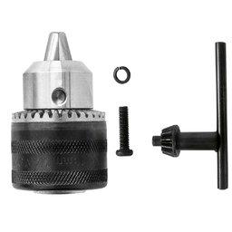 Kit Mandril 1/2 Pol. 13 mm com Parafuso Arruela e Chave para Furadeira 42412 4 Peças