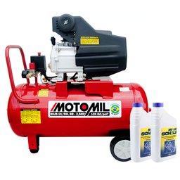 Kit Motocompressor de Ar MOTOMIL-37812.7 8,8 Pés + Óleo Lubrificante SCHULZ-0100011-0 1 L