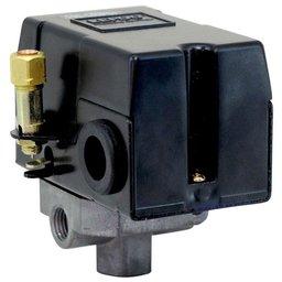 Pressostato 100/140PSI com Válvula, Chave e Manifold 4 Vias para Compressor de Média Pressão