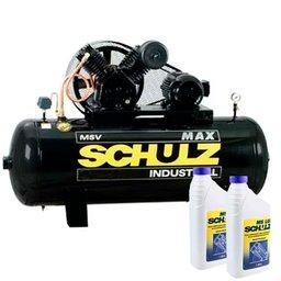 Kit Compressor SCHULZ-MSV20MAX300L 300 Litros Trifásico 5CV + 2 Óleos Lubrificante 1 Litro