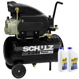 Kit Motocompressor SCHULZ-CSI-8525-AIR 8,5 Pés 25L 110V Monofásico + 2 Óleos Lubrificante 1 Litro