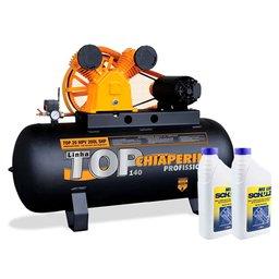 Kit Compressor CHIAPERINI-TOP20TRI 200 Litros Motor 5HP Trifásico + 2 Óleos Lubrificante 1 Litro
