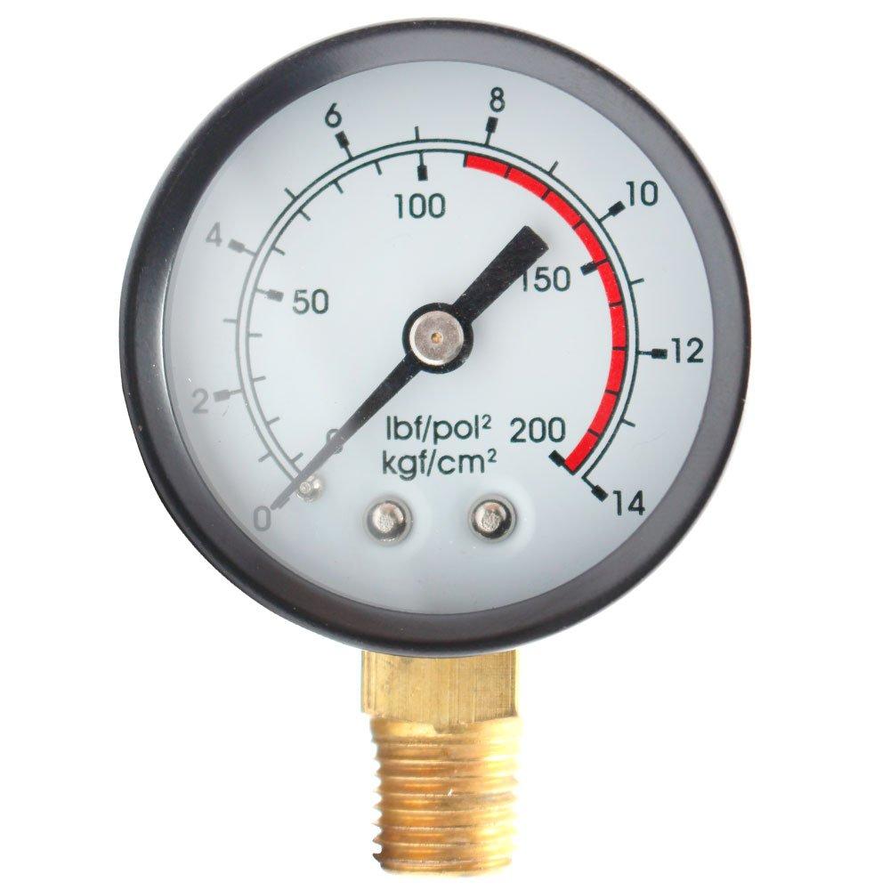 Manômetro Vertical 50mm 200 PSI 1/4 Pol. para Compressor de Pistão