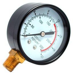 Manômetro Vertical 50mm 300 PSI 1/4 Pol. para Compressor de Pistão
