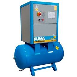 Compressor de Ar Parafuso 15CV 8/10/12 Bar 270 Litros 220V