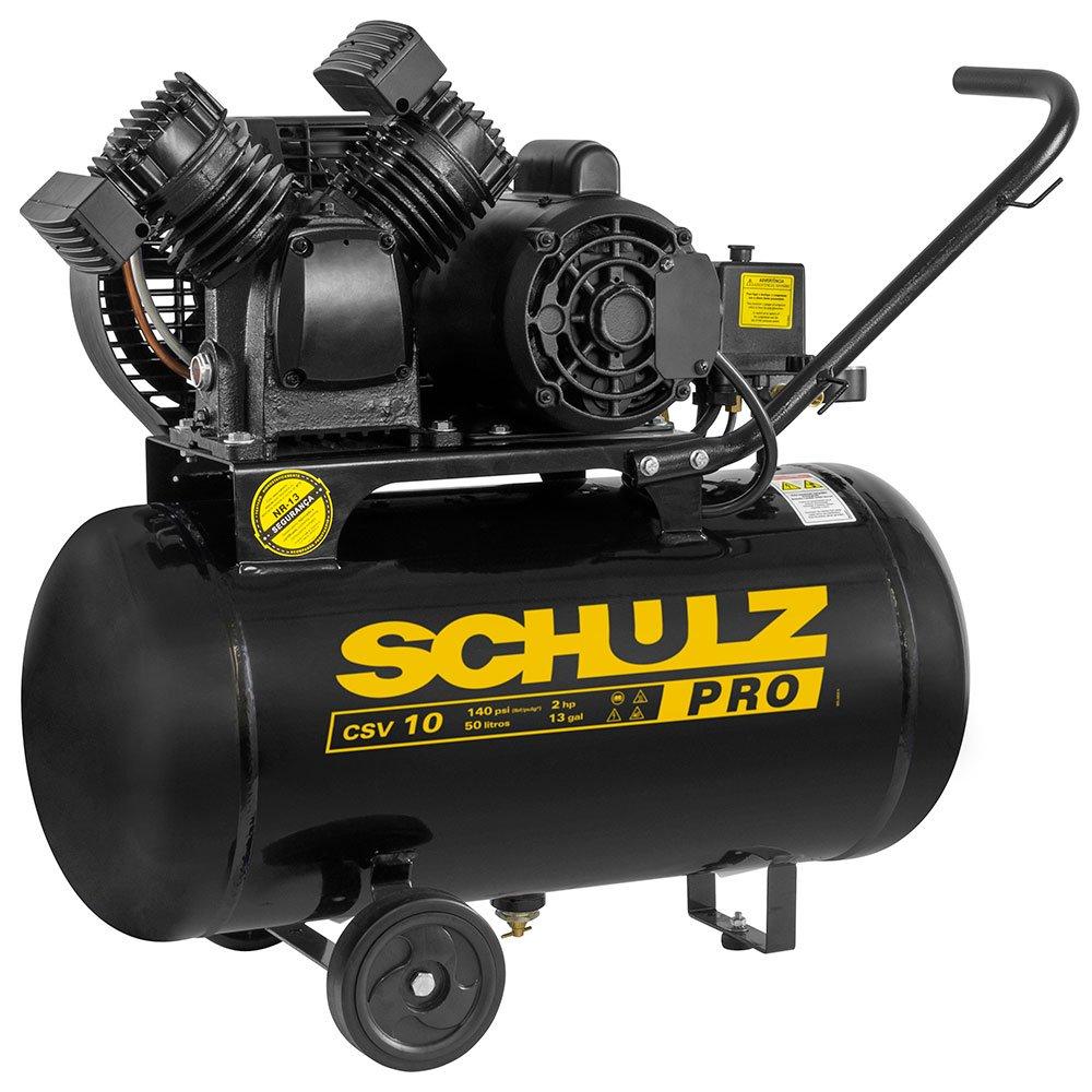 Compressor de Ar Portátil 10 Pés 50L 2HP 140PSI Monofásico