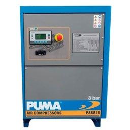 Compressor Parafuso Rotativo 15HP 8/10/12 Bar 220V