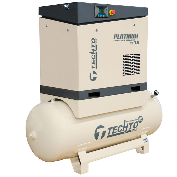 Compressor de Ar Parafuso 7.5HP 10 Bar 24PCM 360 Litros 220V Platinum