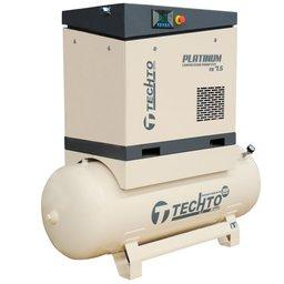 Compressor de Ar Parafuso 7.5HP 10 Bar 24PCM 360 Litros 380V Platinum