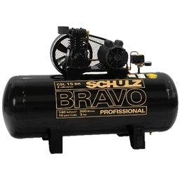 Compressor de Ar 15Pés 200 Litros Trifásico Bravo