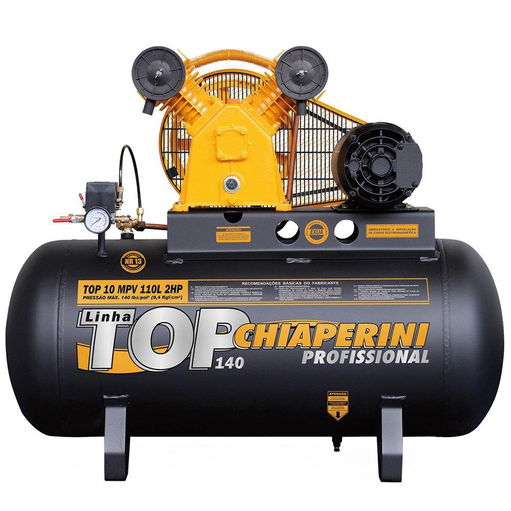 Compressor TOP 10 MPV 110 Litros 2 HP Trifásico 220/380V
