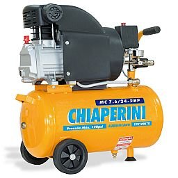 Motocompressor 24 Litros 2HP com 120 PSI 110 V