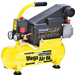 Compressor de Ar Mega Air 1HP 5,5 PCM 6 Litros 110/220V