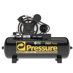 Compressor de Ar Alta Pressão Onix 20 Pés 5HP 250 Litros 220/380V Trifásico