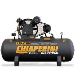 Compressor de Ar 20 Pés 250 Litros Trifásico Alta Pressão Industrial 20+APV 20/250L