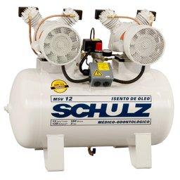 Compressor Odontológico Isento de Óleo 100 Litros 2 x 1HP 220V