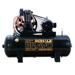 Compressor de Ar Bravo 40 Pés 250 Litros 220/380V Motor Blindado