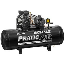 Compressor de Ar Pratic Air CSL 20/150 Monofásico