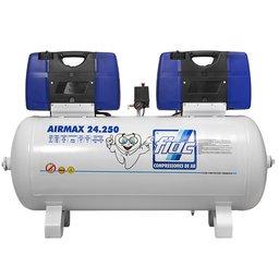 Compressor Odontológico Isento de Óleo 250 Litros 2x2CV Bivolt