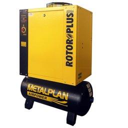 Compressor de Ar de Parafuso 10Hp 9Bar Trifásico 36,5PCM 97 Litros 220V
