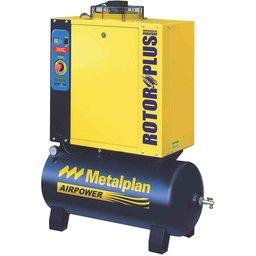 Compressor de Ar de Parafuso 6HP 10Bar Trifásico 24,9PCM 97 Litros 220V