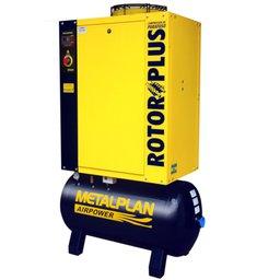 Compressor de Ar de Parafuso 15hp 7,5Bar Trifásico 61,4PCM 152 Litros 220V